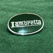 Lambretta oval enamel lapel pin badge Green