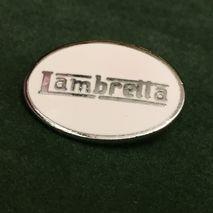 Lambretta oval enamel lapel pin badge White
