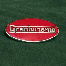 GRANTURISMO oval enamel lapel pin badge Red