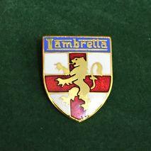 Lambretta shield enamel lapel pin badge gold