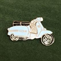 Lambretta GP cut out enamel lapel pin badge pale blue