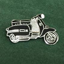 Lambretta GP cut out enamel lapel pin badge Black