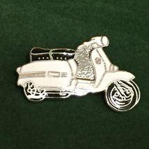 Lambretta GP cut out enamel lapel pin badge White