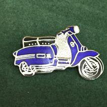 Lambretta GP cut out enamel lapel pin badge royal blue