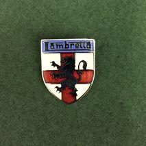 Lambretta shield enamel lapel pin badge silver