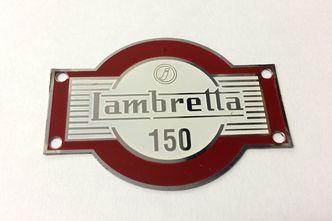 lambretta LD 150 accessory badge red image #1
