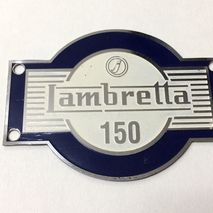 lambretta LD 150 accessory badge blue