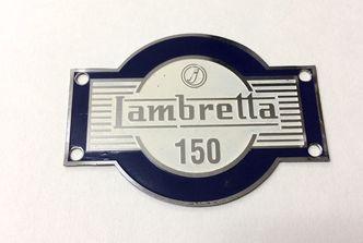 lambretta LD 150 accessory badge blue image #1