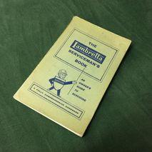 Lambretta service book ORIGINAL