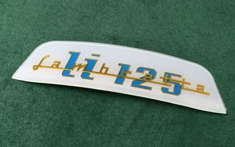 Shaped Lambretta rear frame badge LI 125 image #1