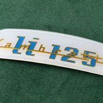 Shaped Lambretta rear frame badge LI 125