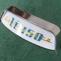 Lambretta curved rear frame badge and rear frame badge holder for LI 150
