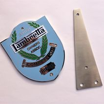 Lambretta BLOA badge mounting plate