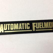 "Vespa ""Automatic Fuelmix"" adhesive badge N.O.S"
