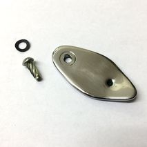 Vespa lock cover 1962-1971 stainless steel