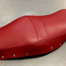 Lambretta Oxblood red seat cover Made in Italy