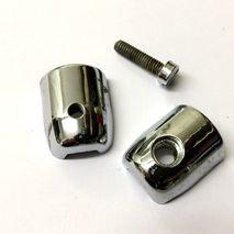 Lambretta series 1 / 2 CHROME beading clip set