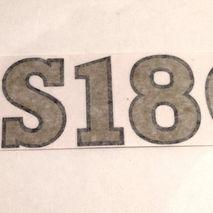 """Vespa SS180 50mm """"Decorette"""" self adhesive stickers"""
