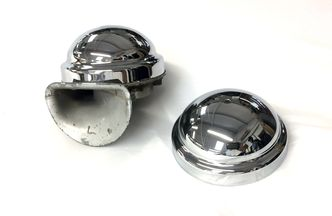 Clear Hooter chrome horn top image #1