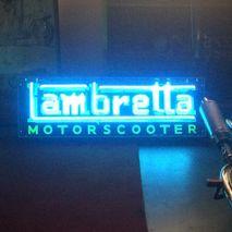Lambretta Neon Sign (blue)