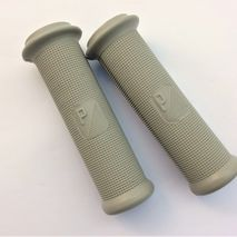 "Vespa grey 24mm handlebar ""P"" logo grips"