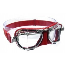 Red compact leather and chrome goggle by Halcyon image #1