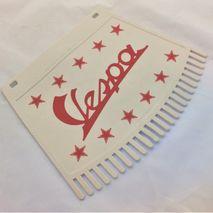 Vespa red print tassel mud flap