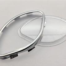 """Vespa """"clam"""" speedometer lens and chrome rim"""