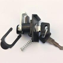 Vespa T5 125 glove box lock / 2 keys BLACK